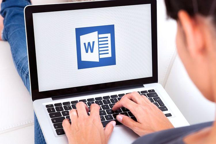 ilustrasi aplikasi Microsoft Word