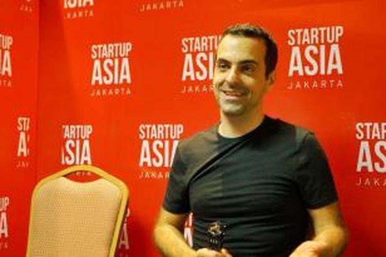 Hugo Barra seusai berbicara di Startup Asia Jakarta, Kamis (27/11/2014).