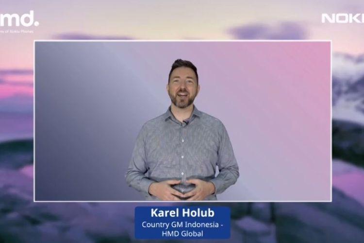 Country General Manager HMD Global Indonesia, Karel Holub, dalam acara peluncuran virtual, Rabu (21/10/2020).