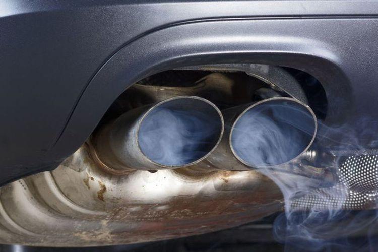 Ilustrasi gas buang kendaraan