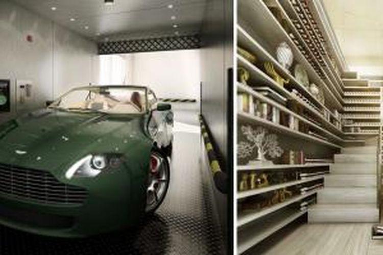 Perusahaan arsitektur asal Belanda, MVRDV, mendesain sebuah griya tawang lengkap dengan elevator mobil. Griya tawang tersebut berada pada lantai 12 dan 13 sebuah blok apartemen mewah di New York.