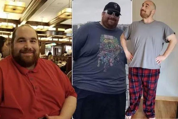 Ethan mampu memangkas bobot tubuhnya hingga sebanyak 72,6 kilogram, hanya dalam waktu 13 bulan.