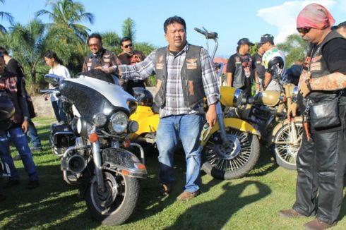 Puluhan Harley Davidson Jelajah Wisata Bengkulu