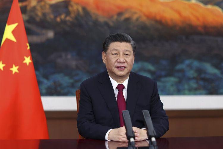 Presiden China Xi Jinping menyampaikan pidato utama melalui video untuk upacara pembukaan Konferensi Tahunan Boao Forum for Asia (BFA), di Beijing pada hari Selasa, (20/4/2021).