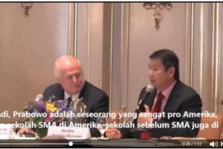 Video Pidato Hashim Djojohadikusumo di Usindo.