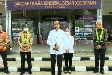 Jokowi: Saya Senang, Airport Sudah Bisa Dipakai meski Terminalnya Masih Darurat