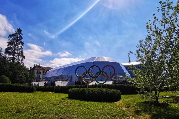 Olympic House di Lausanne, Swiss, menjadi kantor baru bagi Komite Olimpiade Internasional.