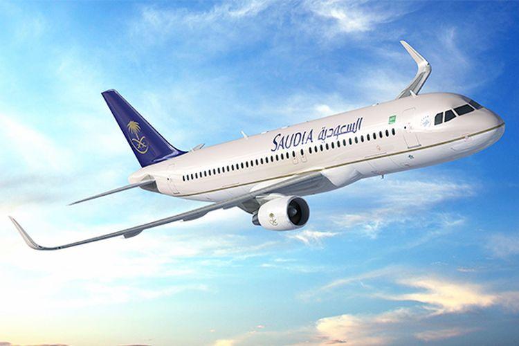 Pesawat Saudia Airlines.