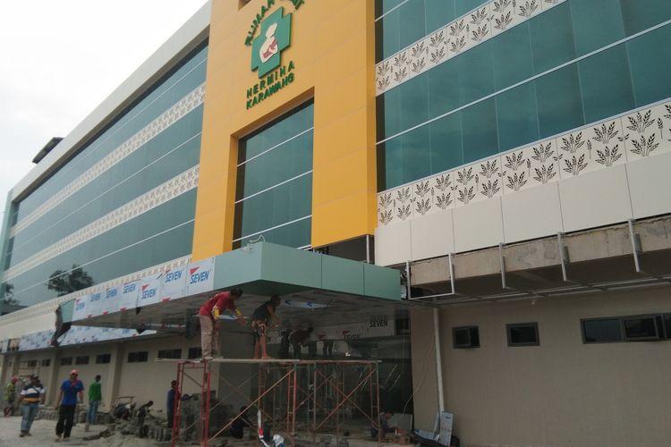Rumah Sakit Hermina Karawang yang ditunjuk  sebagai rumah sakit khusus Corona belum beroperasi, Kamis (19/3/2020).