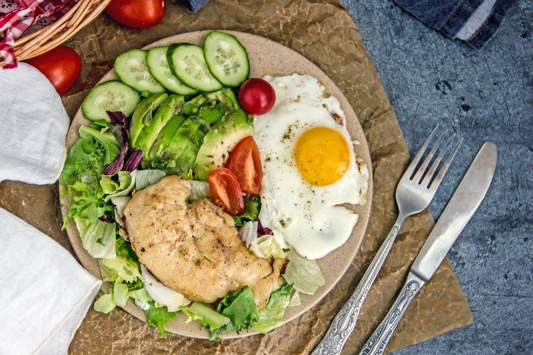 Ilustrasi makanan rendah karbohidrat