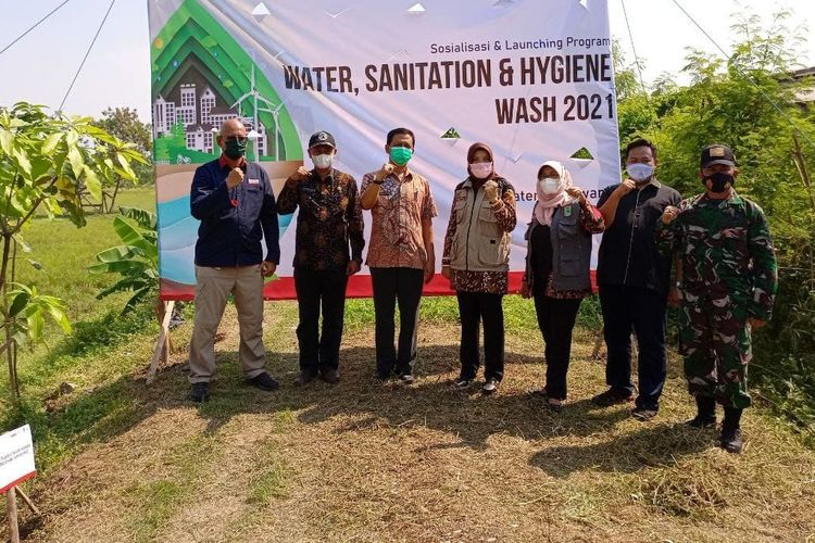 Peluncuran program Water, Sanitation, and Hygiene (WASH) 2021.
