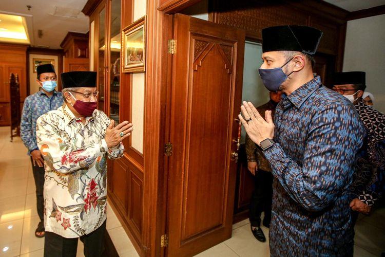 Ketua Umum Partai Demokrat Agus Harimurti Yudhoyono bertemu Ketua Umum PBNU Said Aqil di Kantor PBNU, Jakarta, Kamis (25/6/2020).