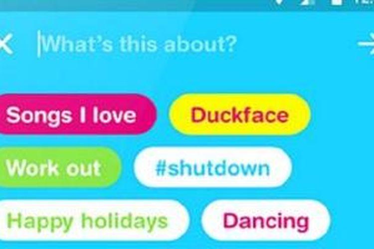Tampilan aplikasi berbagi video buatan Facebook, Riff