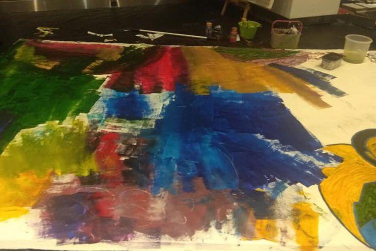 Salah satu karya peserta pameran.