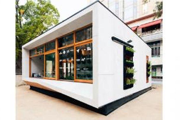 Prototipe rumah prefabrikasi ini hemat energi dan ramah lingkungan.