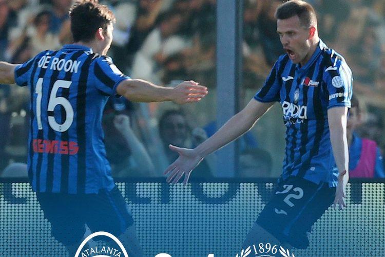 Drama 8 gol terjadi pada pertandingan Atalanta vs Udinese dalam lanjutan Serie A Liga Italia di Bergamo, 27 Oktober 2019.
