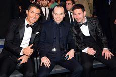 Pelatih Timnas Spanyol Nilai Iniesta Dekati Level Messi daripada Ronaldo