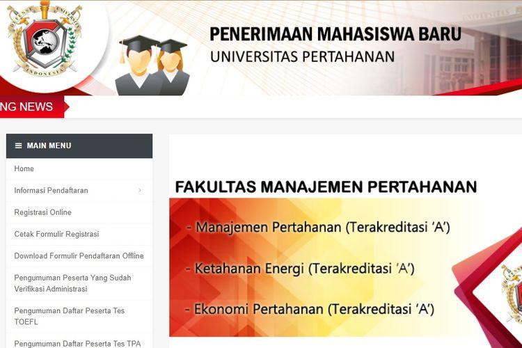 Universitas Pertahanan buka pendaftaran