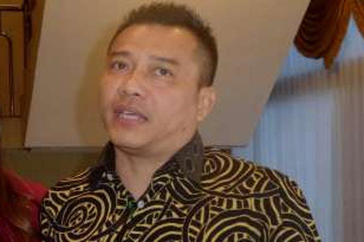 Anang Hermansyah usai kegiatan Sosialisasi UU Nomor 28 Tahun 2014 tentang Hak Cipta di Mapolda Metro Jaya, Jakarta Selatan, Kamis (6/10/2016).