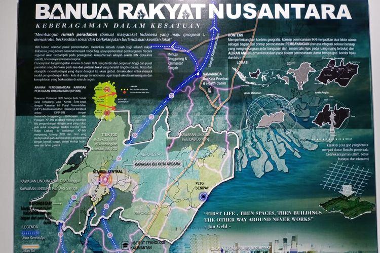 Pemenang harapan II sayembara gagasan desain kawasan ibu kota negara dengan judul Banua Rakyat Nusantara