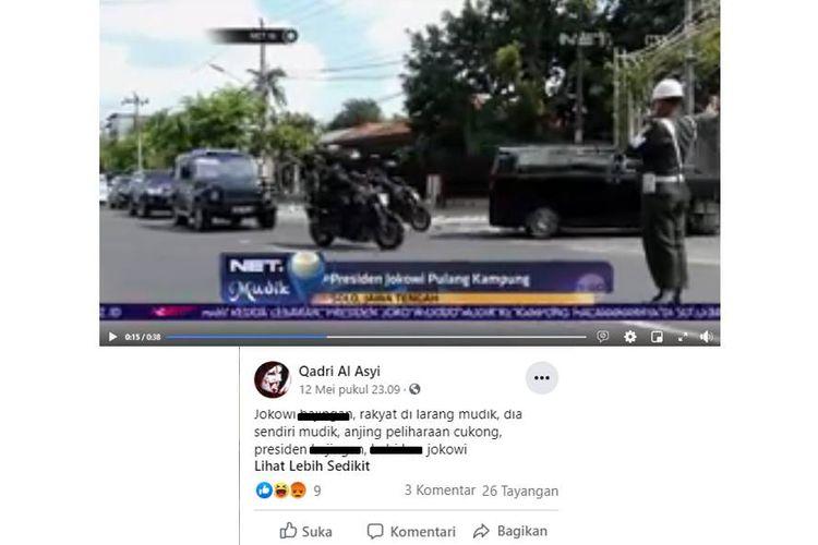 Tangkapan layar Jokowi pulang kampung