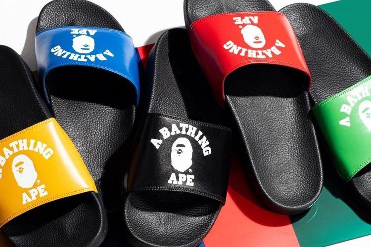 BAPE College Slide Sandals.