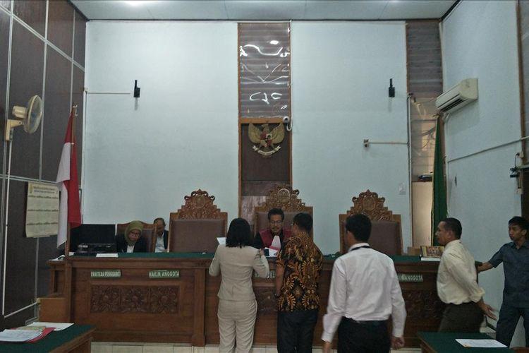 Persidangan praperadilan kasus empat pengamen Cipulir korban salah tangkap, di Pengadilan Negeri Jakarta Selatan, Senin (22/7/2019).