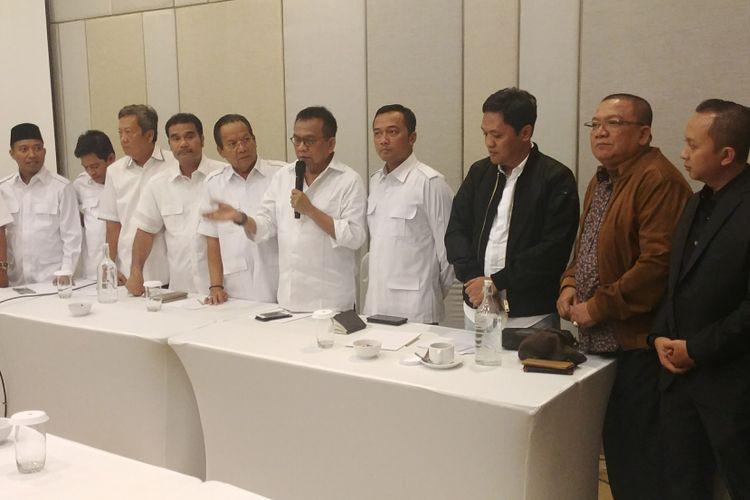 Dewan Pimpinan Daerah Partai Gerindra dari 34 Provinsi seluruh Indonesia mendeklarasikan ketua umum mereka Prabowo Subianto sebagai calon presiden 2019. Acara deklarasi ini berlangsung di sebuah hotel di kawasan Cikini, Jakarta, Senin (12/3/2018) malam, yang dihadiri oleh para Ketua DPD Gerindra.
