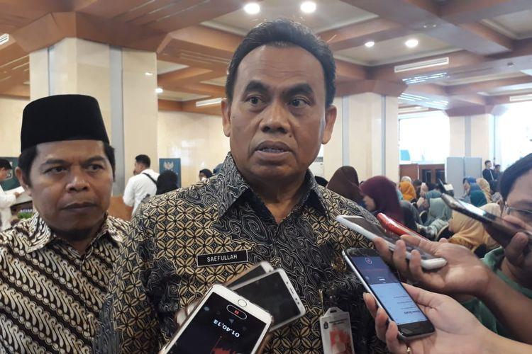 Sekretaris Daerah DKI Jakarta Saefullah di Balai Kota DKI Jakarta, Kamis (19/12/2019).