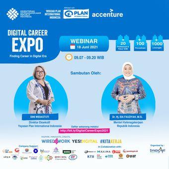 Selain job fair, Digital Career Expo 2021 juga akan menghadirkan sejumlah sosok inspiratif untuk menjadi pembiacara dalam webinar.