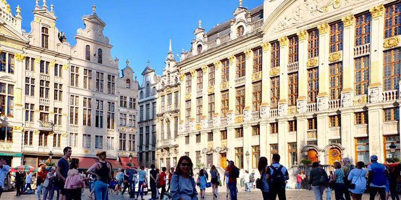 Grand Place di Brussels, Belgia.