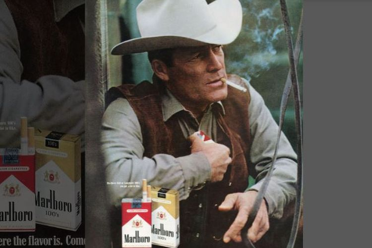 Robert Norris yang dikenal sebagai pria Marlboro atau Marlboro Man yang pertama.