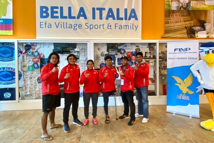 Kontingen renang National Paralympic Committee (NPC) Indonesia yang akan mengikuti Lignano Sabbiadoro World Series 2021 pada 17-18 April 2021.