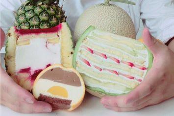 Tren Dessert Kekinian di Jepang, Melon Segar Berisi Cake