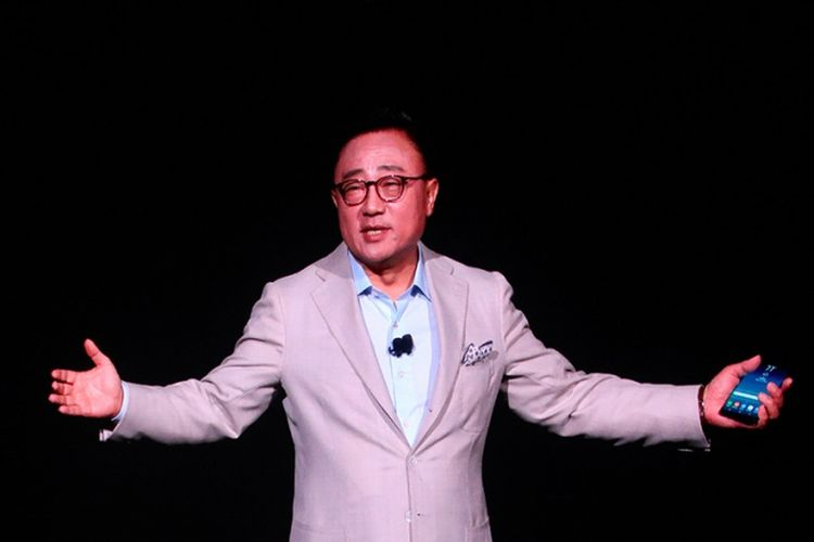 President Mobile Communication Business Samsung, DJ Koh, di acara peluncuran Samsung Galaxy Note 8, New York, AS.