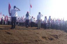 71 Bendera Merah Putih Berkibar di Puncak Gunung Andong