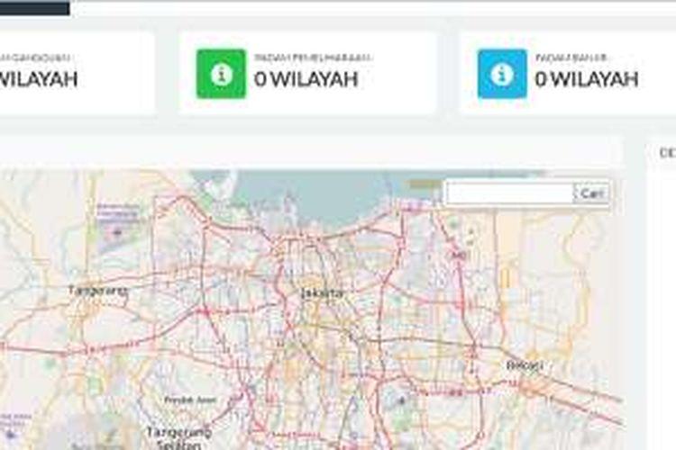 Situs PLN Pelita untuk memantau area pemadaman listrik di wilayah DKI Jakarta.