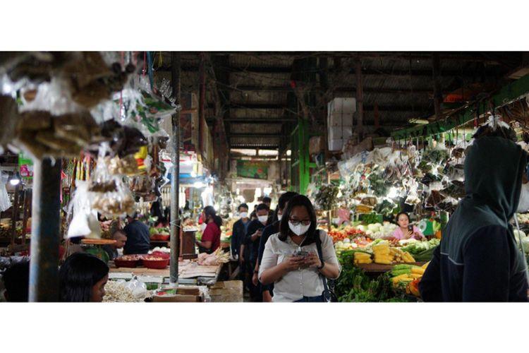Salah satu pasar tradisional di Tarakan.