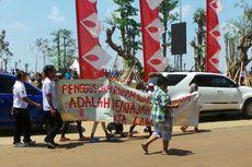 Demo Tolak Penggusuran Warnai Peresmian Taman Waduk Pluit