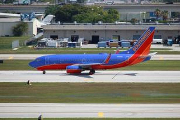 Salah satu Boeing 737-700 milik Southwest Airlines.