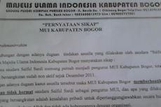 MUI Kabupaten Bogor Bicara soal Video Asusila Ulama
