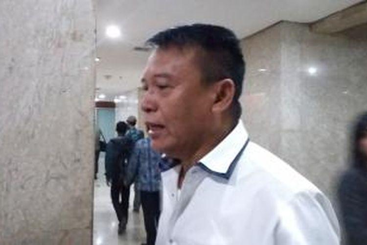 Anggota Komisi I DPR RI TB Hasanuddin, saat ditemui di Gedung DPR RI, Senayan, Jakarta, Kamis (10/9/2015).