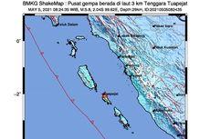 Gempa Hari Ini: M 5,8 Guncang Mentawai, Terasa di Padang dan Bukittinggi