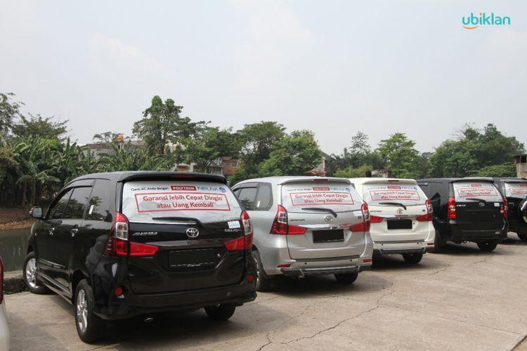 Ilustrasi car advertising