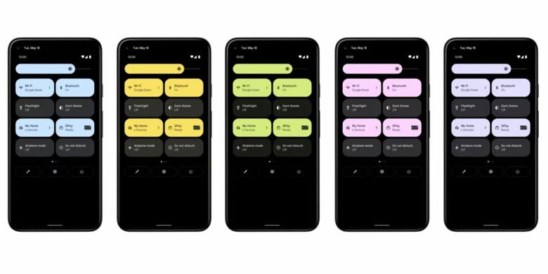 Tampilan Quick Tiles di Android 12