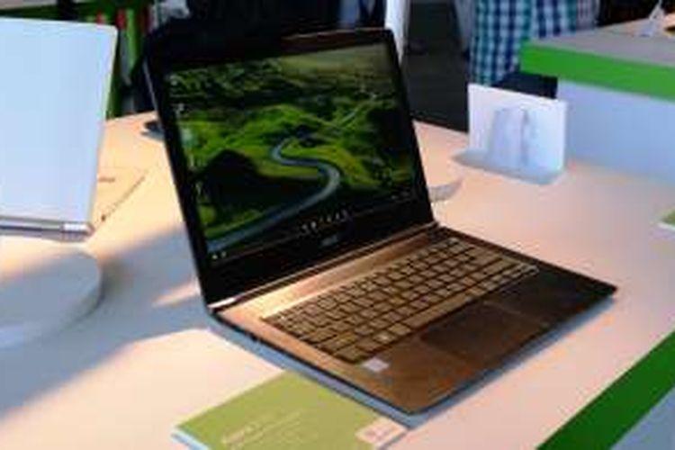 Acer Aspire S13 hanya 0,57 inci di bagian paling tebalnya dan bobot 1,4 kg.