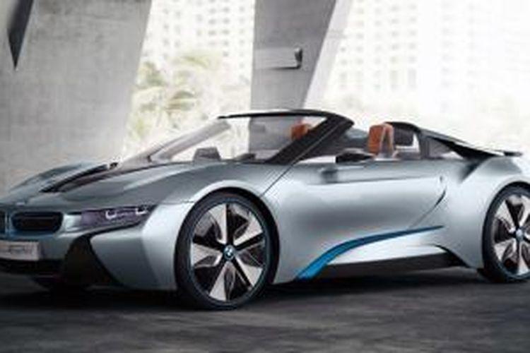 Ilustrasi: BMW i8 Spyder menuju produksi. Pada perdagangan saham Selasa (1/3/2016), saham BMW ditutup menguat 4,2 persen setelah CEO Harald Krueger optimistis adanya pertumbuhan penjualan tahun ini dari pasar China dan Eropa.