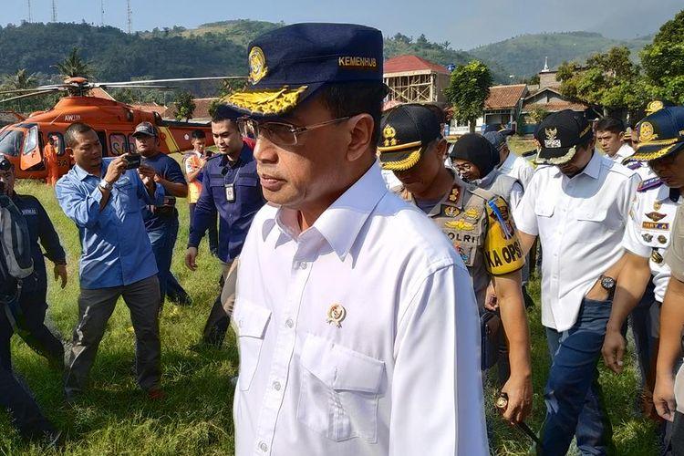 Menteri Perhubungan (Menhub) Budi Karya Sumadi melakukan peninjauan kesiapan mudik di wilayah Nagreg, Kabupaten Bandung, Provinsi Jawa Barat, Rabu (29/5/2019).