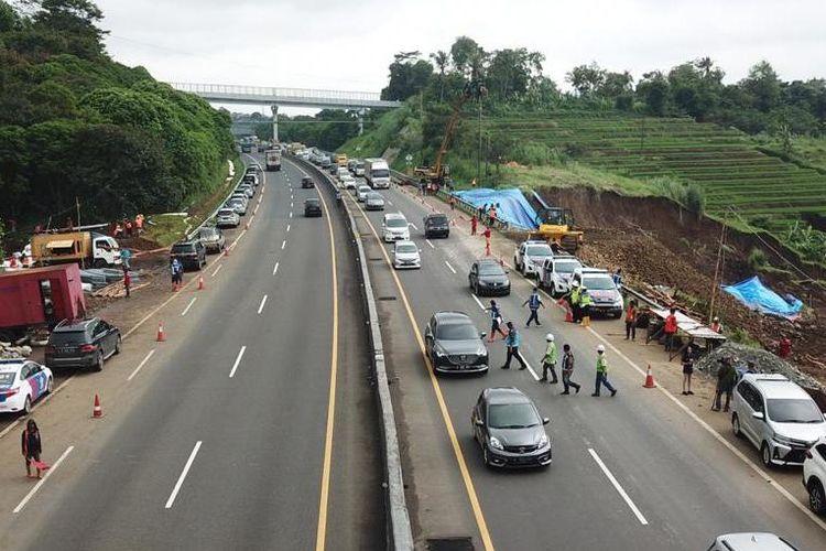 Jasa Marga bakal lakukan rekayasa lalu lintas di Tol Cipularang, Bandung, Kamis (20/2/2020).