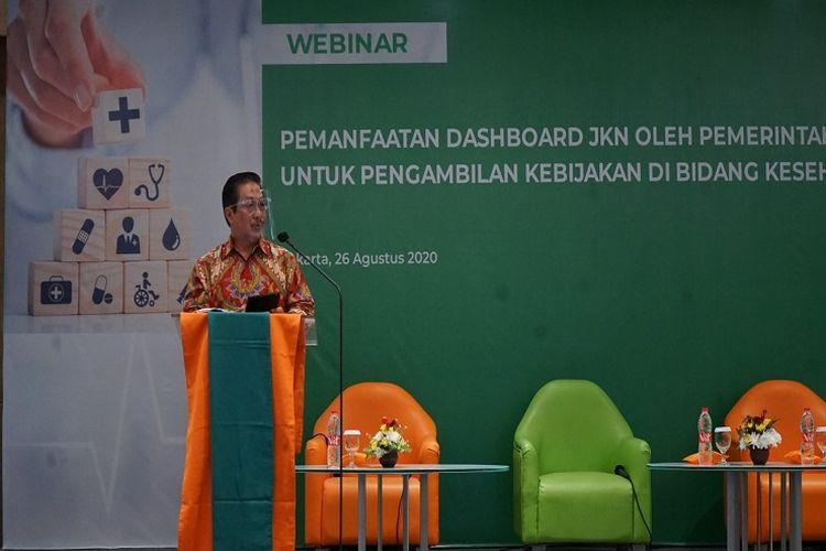 Wali Kota Malang, Sutiaji dalam web seminar (Webinar) Pemanfaatan Dashboard JKN oleh Pemerintah Daerah, Rabu (26/08/2020).